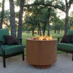 Corten steel outdoor fire pit