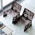 modern house furniture design with rose flower decorations