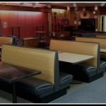 Custom made booth seating