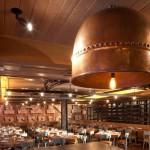 Corten steel light shades for restaurants