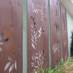 Corten steel art features - Corten Cladding