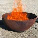 Cor-ten outdoor fire pit