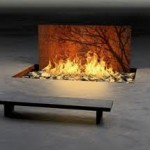 Corten steel indoor fire pit